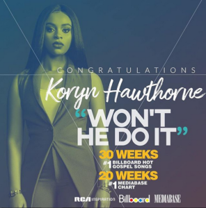 "Won't He Do It:""Koryn Hawthorne Makes Billboard History"